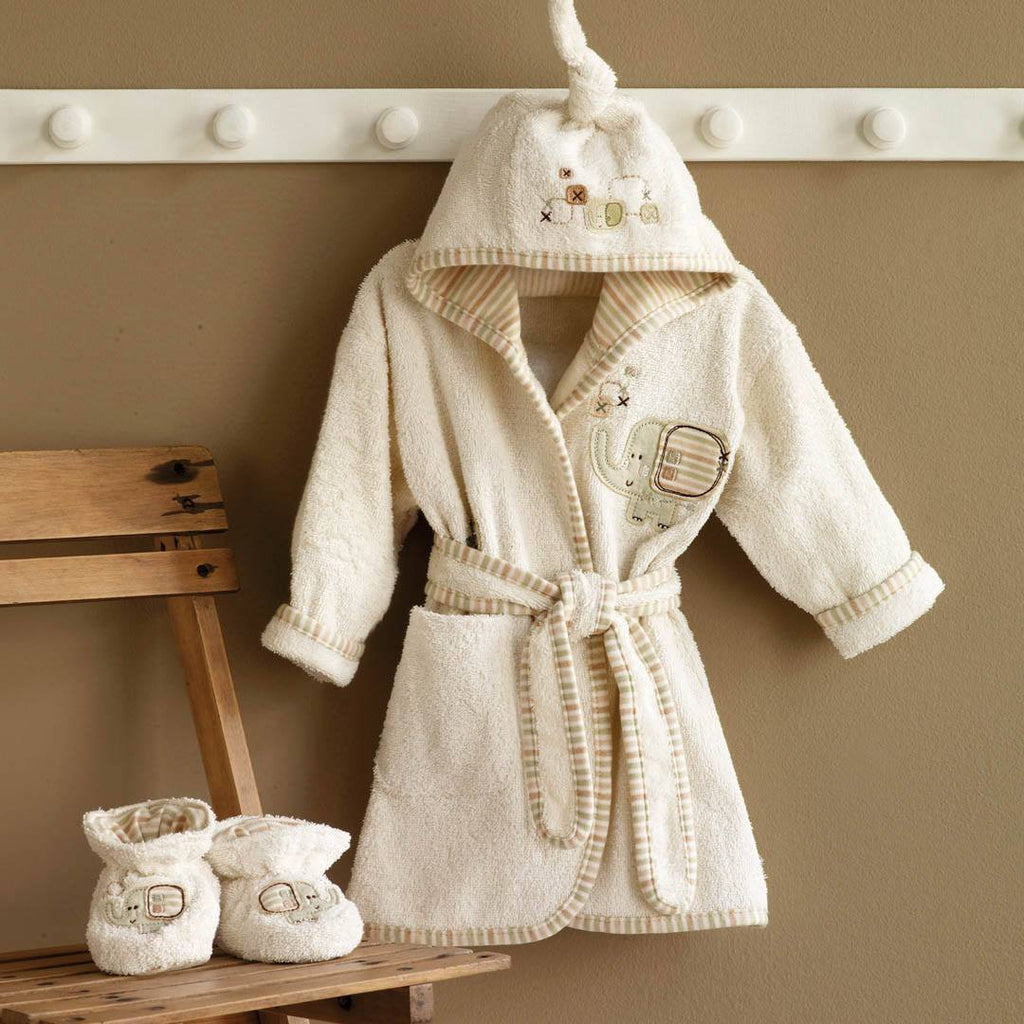 Towels & Robes - Natures Purest Bathrobe & Slippers - Sleepy Safari