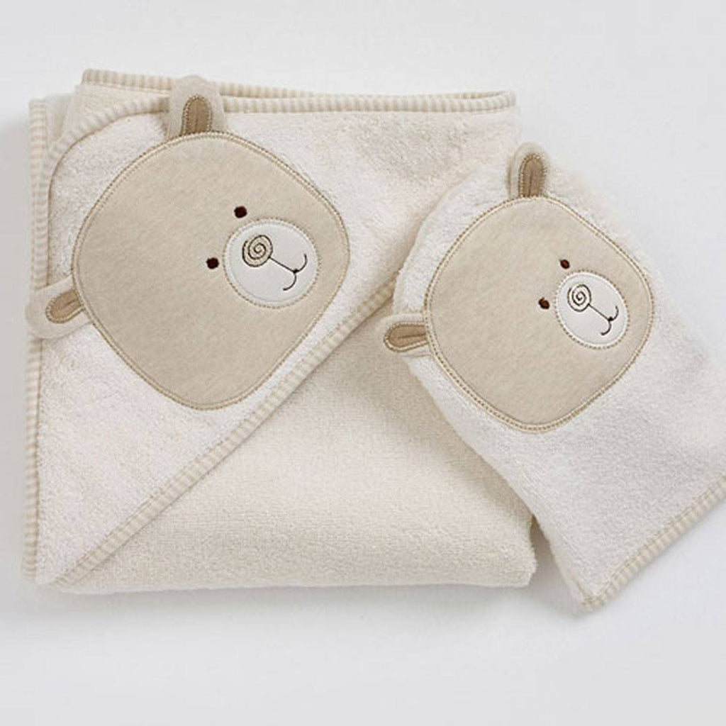 Towels & Robes - Natures Purest Cuddlerobe & Washmitt - Hug Me Bear