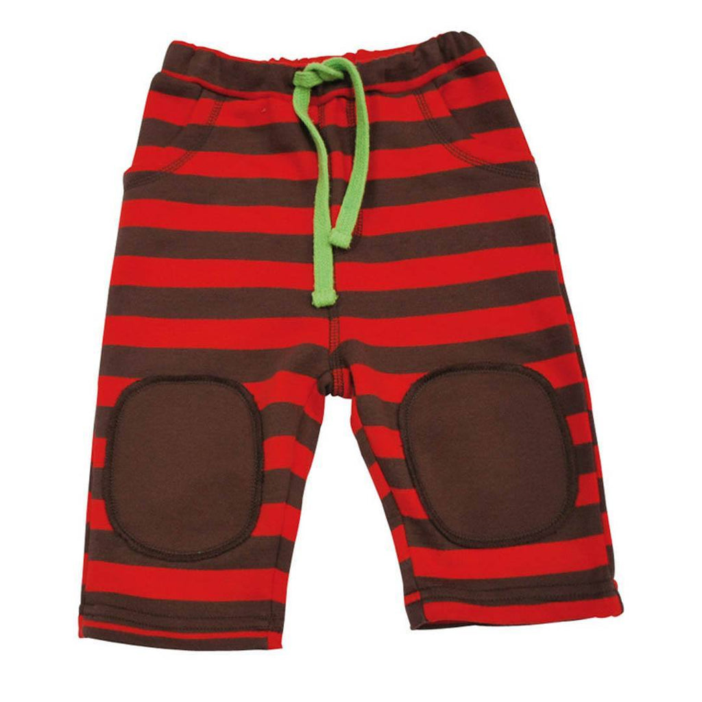 Frugi Big Stripe Pull Ups - Tomato Red - Trousers & Leggings - Natural Baby Shower