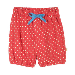 Trousers & Leggings - Frugi Briar Bloomy Shorts - Washed Red
