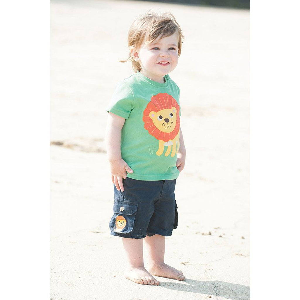 Trousers & Leggings - Frugi Little Explorer Shorts - Navy