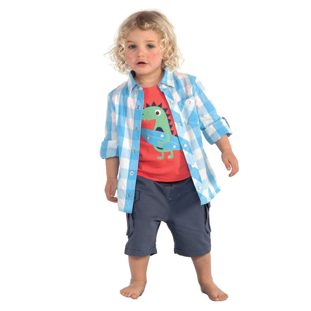 Trousers & Leggings - Frugi Ripstop Shorts - Indigo