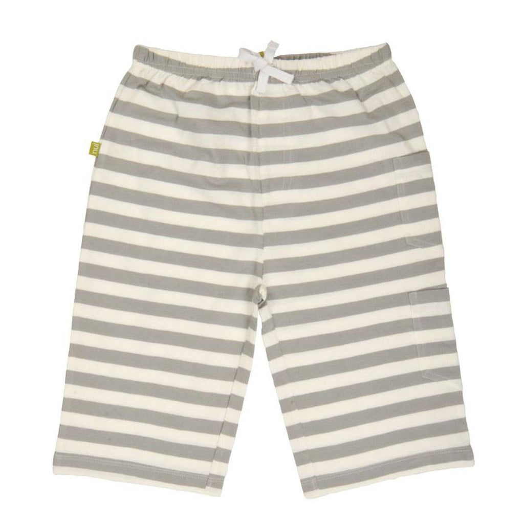 Trousers & Leggings - Nui Organics Kavi Shorts - Organic Cotton - Grey Stripe