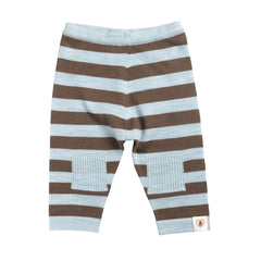 Trousers & Leggings - Nurtured By Nature Striped Pantalon - Pure Merino - Chocolate & Cornflower