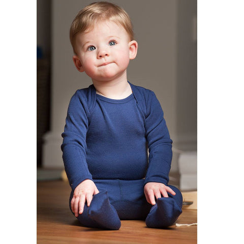 Superlove Merino Baby Leggings - French Navy-Pants- Natural Baby Shower