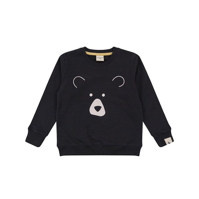 Turtledove London Bear Face Sweatshirt - Charcoal-Jumpers- Natural Baby Shower