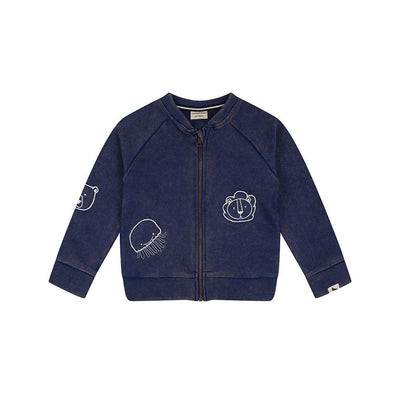 Turtledove London Lava Wash Bomber - Blue-Hoodies- Natural Baby Shower