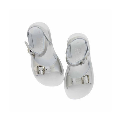 Salt-Water Sun-San Kids Sandals - Surfer - Silver - Ex-Display-Sandals-12 Child-Silver- Natural Baby Shower