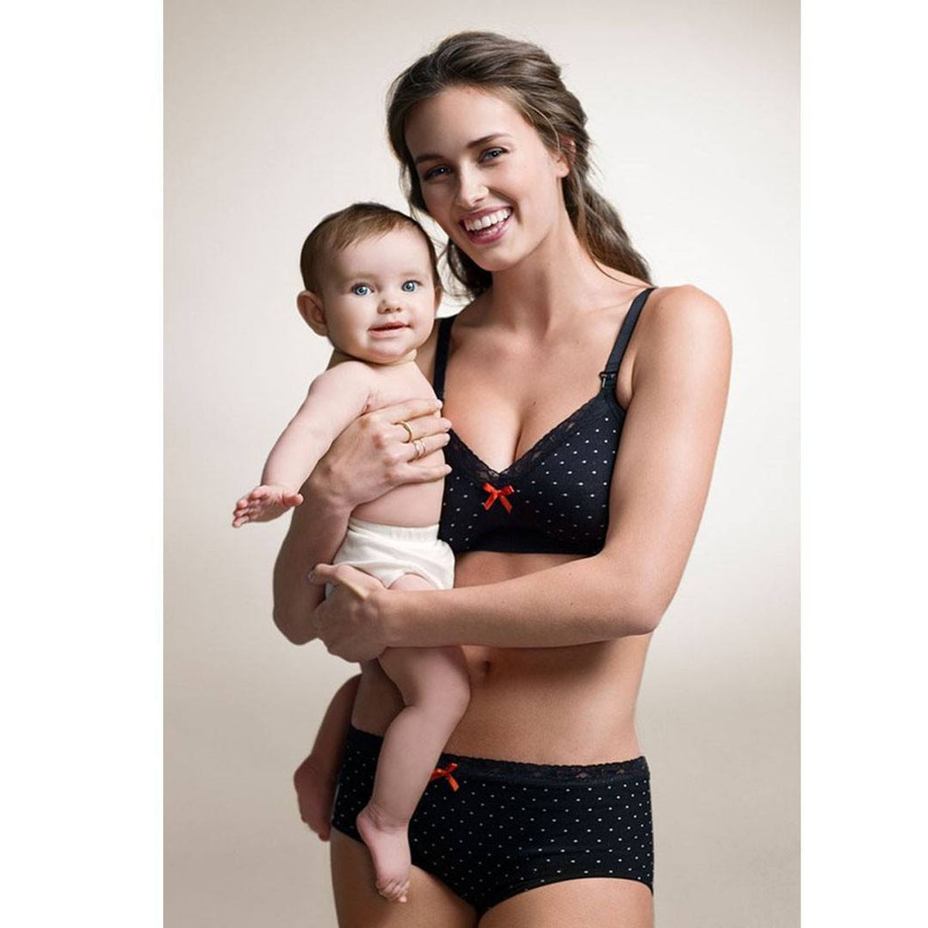 Underwear - Boob Seamless Maternity Brief - Black Dot