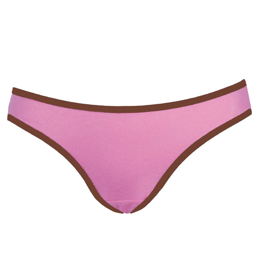 Underwear - Fertile Mind Perfect Fit Maternity Undies - Pink/Chocolate - 2 Pack