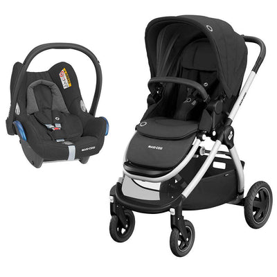 Maxi-Cosi Adorra Pushchair + CabrioFix Car Seat - Essential Black-Travel Systems- Natural Baby Shower