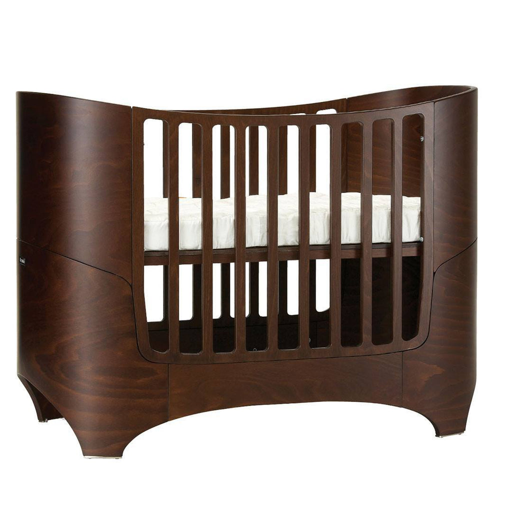 Leander Baby Cot Bed - Walnut-Cot Beds- Natural Baby Shower
