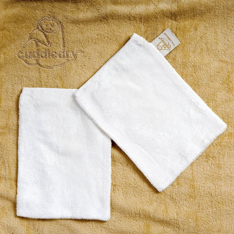 Cuddledry CuddleMit Bath Wash Mit - White - Washcloths - Natural Baby Shower