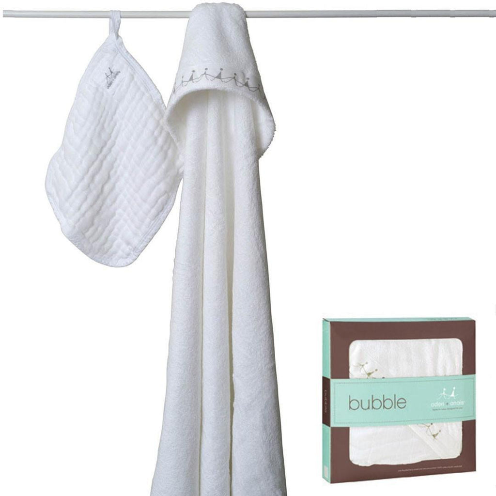Aden & Anais Hooded Towel & Washcloth - Water Baby