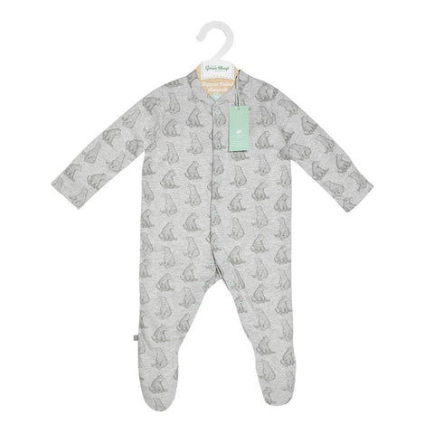 Wild Cotton Bear Print Sleep Suit