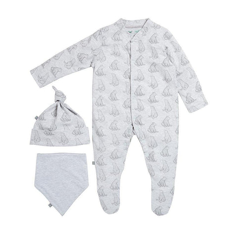 Wild Cotton Bear Print Sleep Suit Gift Set