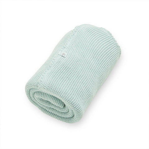 Wild Cotton Knitted Blanket - Mint