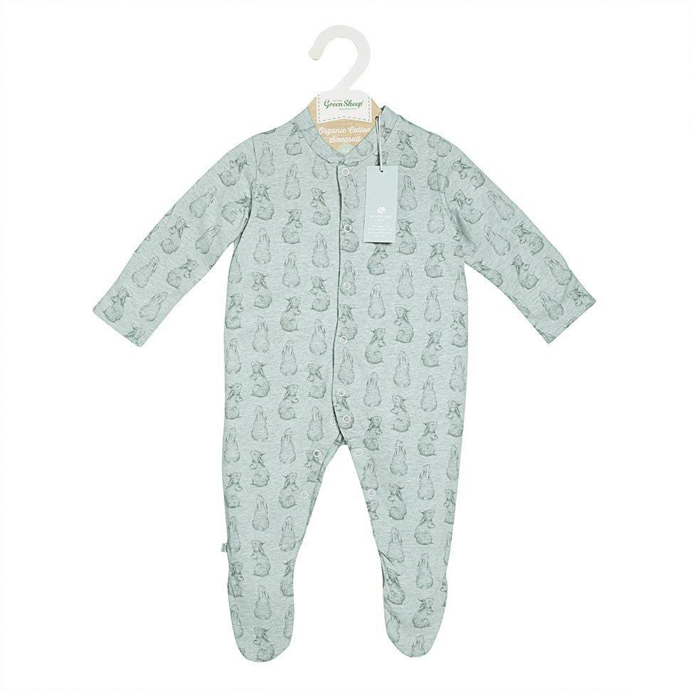 Wild Cotton Rabbit Print Sleep Suit