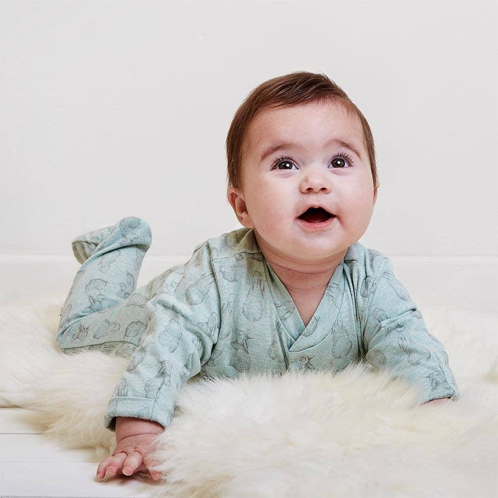 Wild Cotton Rabbit Print Sleep Suit Lifestyle