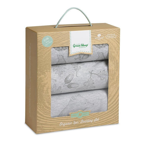 Wild Cotton Organic Bedding Set - Bear - Crib-Bedding Sets- Natural Baby Shower