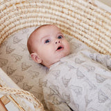 Wild Cotton Woodland & Bear Print 3pc. Bedding Set - Moses/Pram