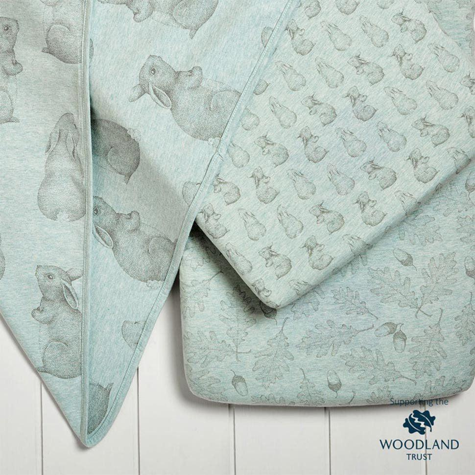 Wild Cotton Organic Bedding Set - Rabbit - Crib-Bedding Sets- Natural Baby Shower