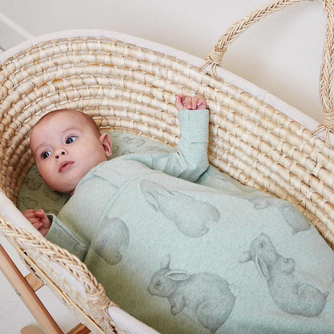 Wild Cotton Organic Bedding Set - Rabbit - Moses/Pram-Bedding Sets- Natural Baby Shower