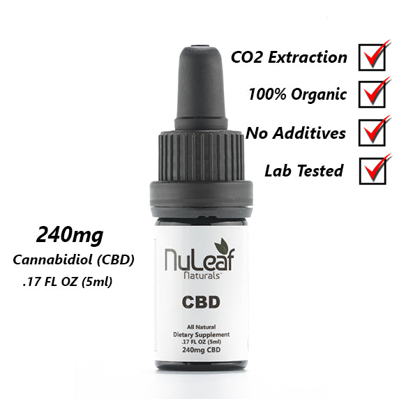 Buy CBD Hemp Oil 240mg by NuLeaf Naturals