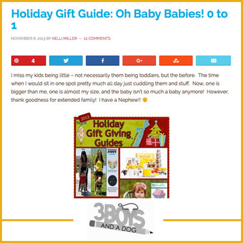 Holiday Gift Guild: Oh Baby Babies! 0 to 1, 3 Boys and A Dog