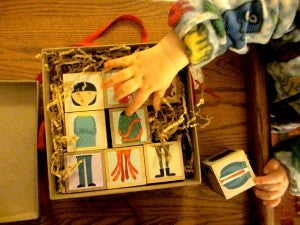 Independent Play with blocks