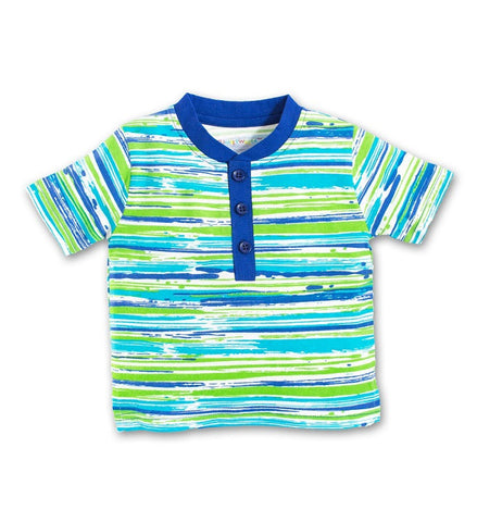 Organic Beach Stripe Scooter Shirt