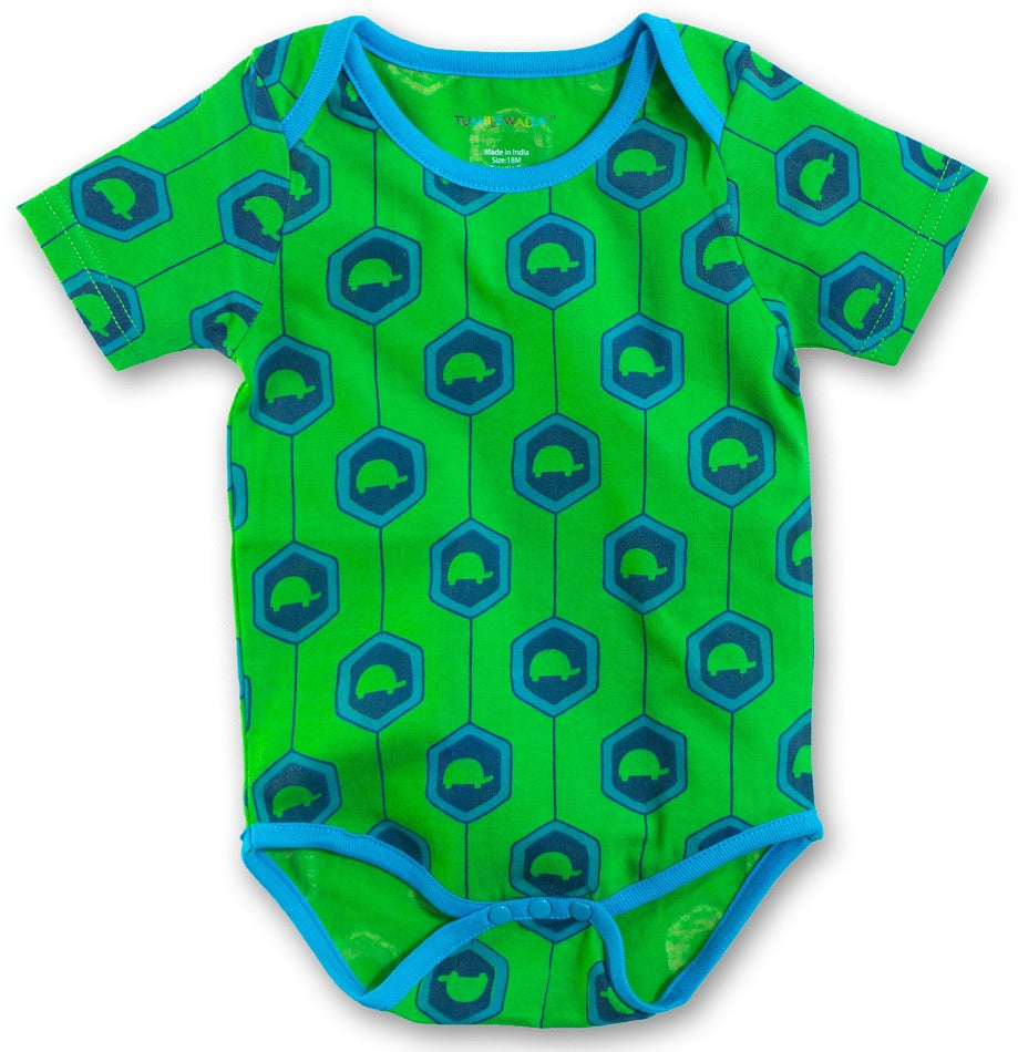 Belly Bodysuit: Turtle Shell - Organic Collection