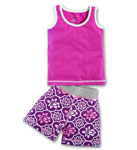 Organic Rose Tank & Little Lotus Short Playset