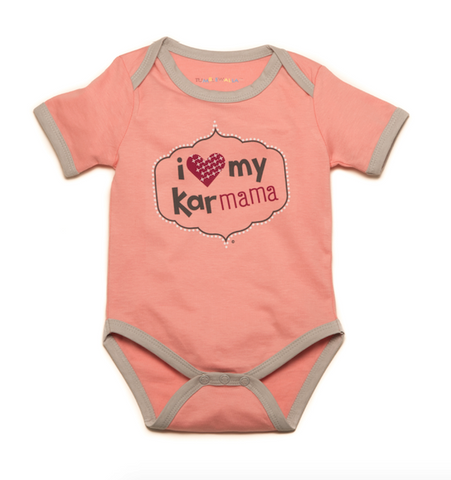 """I Love My Karmama"" Pink Organic One-Piece"