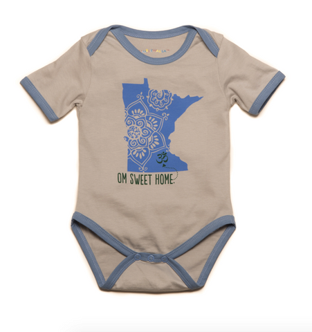 Om Sweet Home Organic Blue Minnesota One-Piece