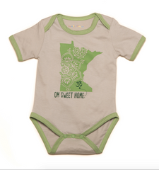 Om Sweet Home Organic Green Minnesota One-Piece