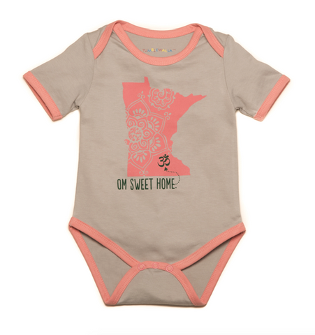 Om Sweet Home Organic Pink Minnesota One-Piece