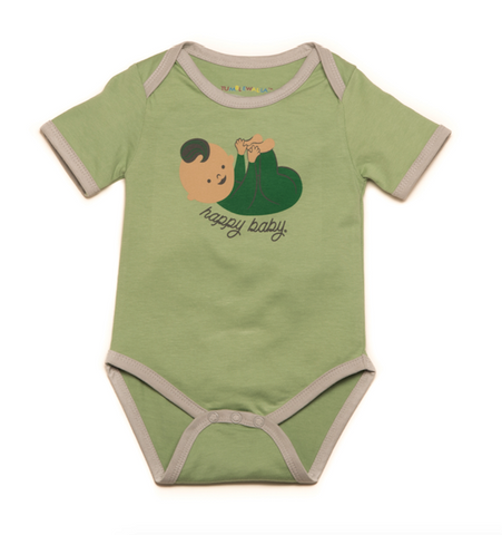 """Happy Baby"" Organic One-Piece"
