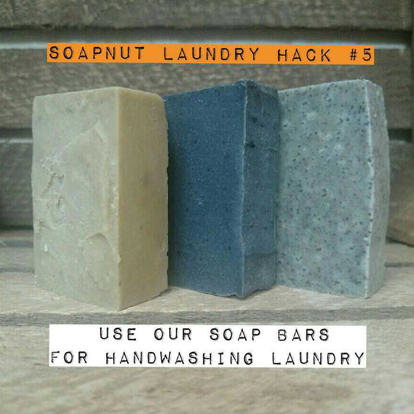 zero waste laundry washing with soapnut soap bars handwashing laundry