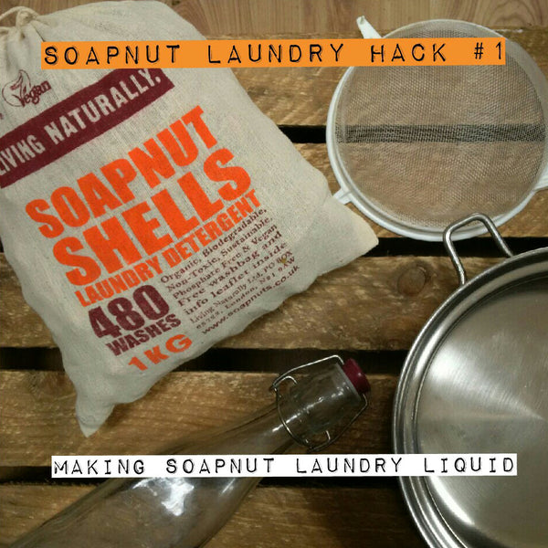homemade organic soapnut laundry liquid