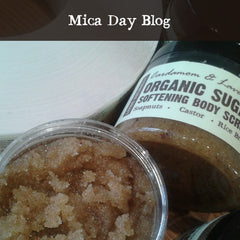 vegan organic raw sugar body scrub with cardamom andlavender and organic soapnuts