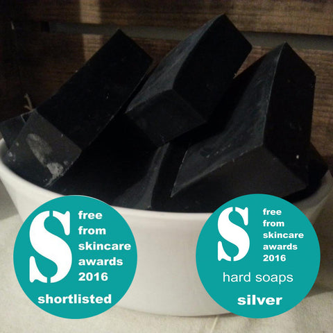 award wining skincare vegan activated charcoal soapnut soap palm oil free sls free