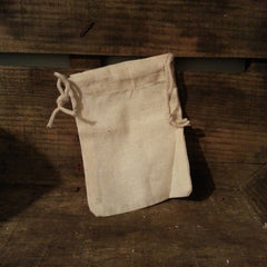 small unbleached cotton muslin bag for soapnut laundry or food