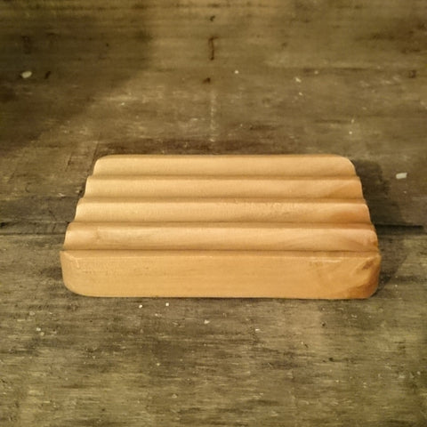 sustainable hemu wood soap dish