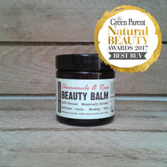 chamomile and rose beauty balm vegan organic preservative free made with organic rosehip and organic wildcrafted soapnuts