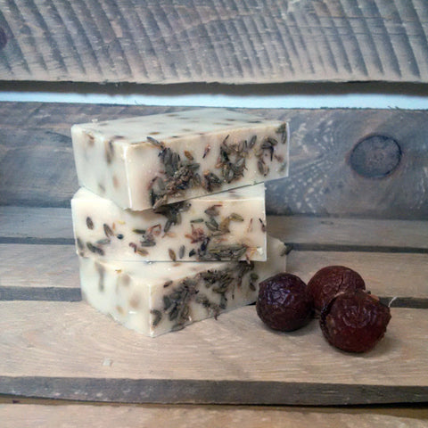 lavender and geranium vegan palm oil free soap nut soap