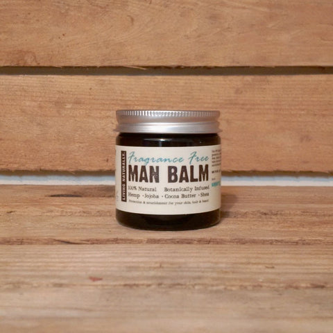 vegan organic preservative free man balm moisturiser and beard balm made with organic soapnut extract and organic wild crafted herbs