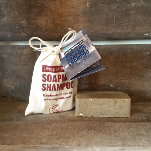 Ayurvedic soap nut shampoo bar vegan sls free palm oil zero waste ethical sustainable