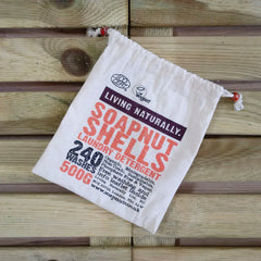 soapnut storage bag unbleached muslin biodegradable zero waste