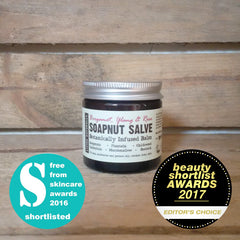 award-winning natural skincare vegan botanically infused salve with organic wildcrafted herbs and organic soapnuts